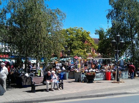 Market day in Droitwich